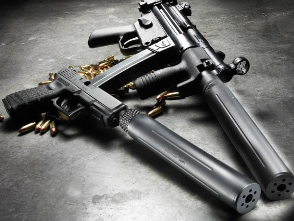 submachine gun suppressor